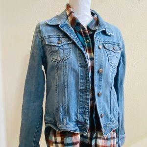 OLD NAVY Vtg jean jacket denim trucker M cotton